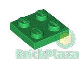 LEGO-Plaat-2x2-groen-3022-302228