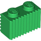 LEGO-Green-Brick-Modified-1-x-2-with-Grille-(Flutes)-2877-287728