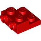 LEGO-Red-Plate-Modified-2-x-2-x-2-3-with-2-Studs-on-Side-99206-6061711