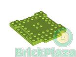 LEGO-Plaat-Aangepast-8x8-met-1x4-inkepingen-en-1x4-Plaat-lime-15624-6055164