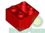 LEGO-Dakpan-Omgekeerd-2x2-45-Graden-rood-3660-366021