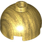LEGO-Pearl-Gold-Brick-Round-2-x-2-Dome-Top-Hollow-Stud-with-Bottom-Axle-Holder-x-Shape-+-Orientation-553c-4569316