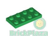 LEGO-Plaat-2x4-groen-3020-302028
