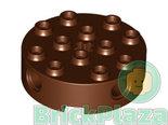 LEGO-Technic-Steen-Rond-4x4-roodbruin-6222-4223681