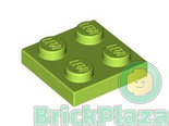LEGO-Plaat-2x2-lime-3022-4537937