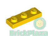 LEGO-Plaat-1x3-geel-3623-362324