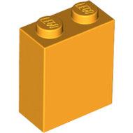 LEGO Bright Light Orange Brick 1 x 2 x 2 with Inside Stud Holder 3245c - 6178462
