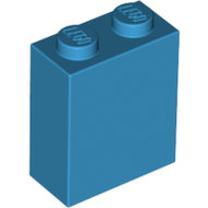 LEGO Dark Azure Brick 1 x 2 x 2 with Inside Stud Holder 3245c - 6219792