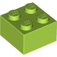 LEGO Lime Brick 2 x 2 3003 - 4220632