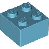 LEGO Medium Azure Brick 2 x 2 3003 - 4653970