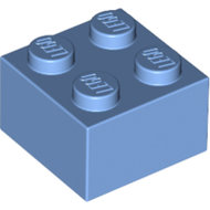 LEGO Medium Blue Brick 2 x 2 3003 - 4201235
