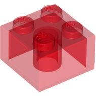 LEGO Trans-Red Brick 2 x 2 3003 - 4143335