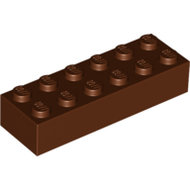LEGO Reddish Brown Brick 2 x 6 2456 - 4216615