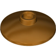 LEGO Metallic Gold Dish 2 x 2 Inverted (Radar) 4740 - 6078236