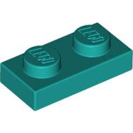 LEGO Dark Turquoise Plate 1 x 2 3023 - 6213777