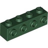 LEGO Dark Green Brick, Modified 1 x 4 with 4 Studs on 1 Side 30414 - 4245573