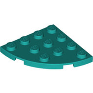 LEGO Dark Turquoise Plate, Round Corner 4 x 4 30565 - 6254334