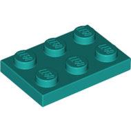 LEGO Dark Turquoise Plate 2 x 3 3021 - 6249417