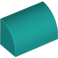 LEGO Dark Turquoise Brick, Modified 1 x 2 x 1 No Studs, Curved Top 37352 - 6267714