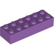 LEGO Medium Lavender Brick 2 x 6 2456 - 6115808