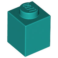 LEGO Dark Turquoise Brick 1 x 1 3005 - 6236772