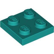 LEGO Dark Turquoise Plate 2 x 2 3022 - 6249390