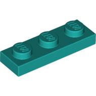 LEGO Dark Turquoise Plate 1 x 3 3623 - 6213784