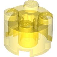 LEGO Trans-Yellow Brick, Round 2 x 2 with Axle Hole 3941 - 611644