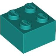 LEGO Dark Turquoise Brick 2 x 2 3003 - 4120399