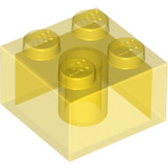 LEGO Trans-Yellow Brick 2 x 2 3003 - 6104378