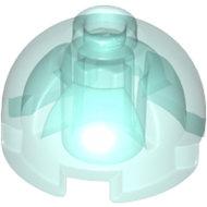 LEGO Trans-Light Blue Brick, Round 2 x 2 Dome Top - Hollow Stud with Bottom Axle Holder x Shape + Orientation 553c - 6141588