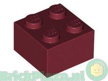 LEGO Steen 2x2 donkerrood 3003 - 4539104