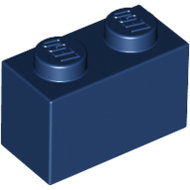 LEGO Dark Blue Brick 1 x 2 3004 - 4249891