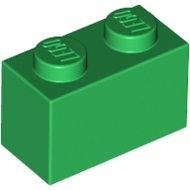 LEGO Green Brick 1 x 2 3004 - 4107736
