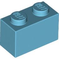 LEGO Medium Azure Brick 1 x 2 3004 - 6092674