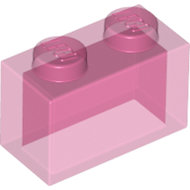 LEGO Trans-Dark Pink Brick 1 x 2 without Bottom Tube 3065 - 6096995