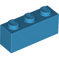 LEGO Dark Azure Brick 1 x 3 3622 - 6154879