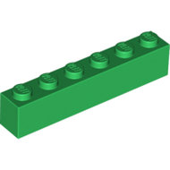 LEGO Green Brick 1 x 6 3009 - 4111844