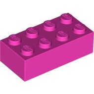 LEGO Dark Pink Brick 2 x 4 3001 - 4229355
