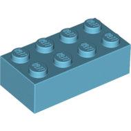 LEGO Medium Azure Brick 2 x 4 3001 - 4625629