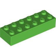 LEGO Bright Green Brick 2 x 6 2456 - 6102903