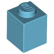 LEGO Medium Azure Brick 1 x 1 3005 - 4619652