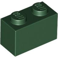 LEGO Dark Green Brick 1 x 2 3004 - 4245570