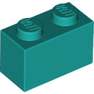 LEGO Dark Turquoise Brick 1 x 2 3004 - 6217659