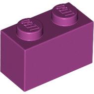 LEGO Magenta Brick 1 x 2 3004 - 4519195