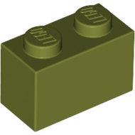 LEGO Olive Green Brick 1 x 2 3004 - 6024722