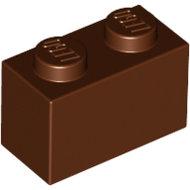 LEGO Reddish Brown Brick 1 x 2 3004 - 4211149