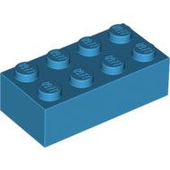 LEGO Dark Azure Brick 2 x 4 3001 - 4655172