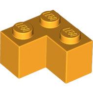 LEGO Bright Light Orange Brick 2 x 2 Corner 2357 - 6034175