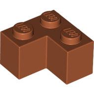 LEGO Dark Orange Brick 2 x 2 Corner 2357 - 4164442